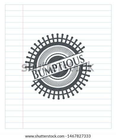 Bumptious draw with pencil effect. Vector Illustration. Detailed. Stock photo ©