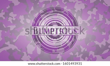 Bumptious pink and purple on camo texture. Vector Illustration. Detailed. Stock photo ©