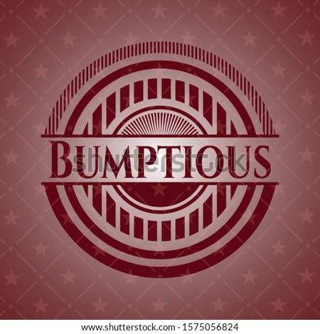 Bumptious red emblem. Retro. Vector Illustration. Detailed. Stock photo ©