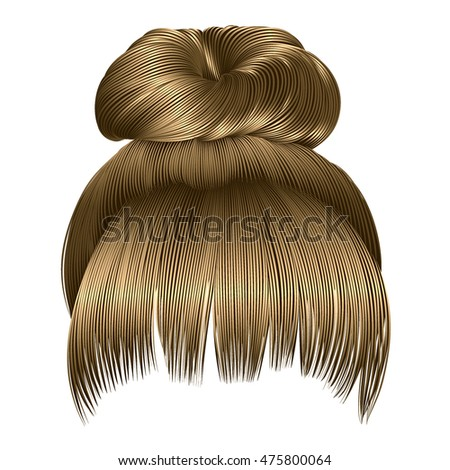 bun of hairs with fringe light