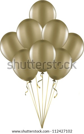 Bunch of gold balloons