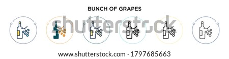 bunch of grapes icon in filled