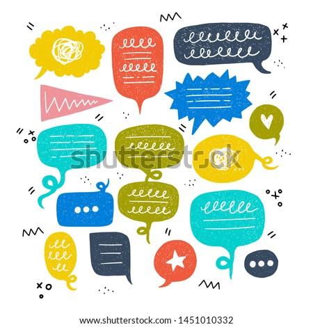 bunch of speech bubbles of
