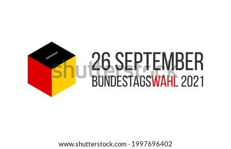 bundestagswahl 2021 - german federal election 2021, vector banner or social media post template Foto stock ©