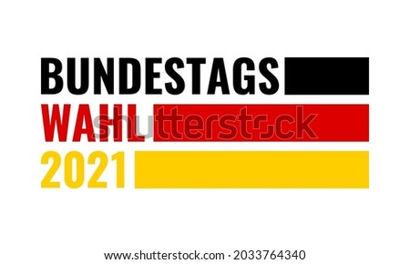 BundestagWahl 2021 - german federal election 2021, vector banner or sticker Photo stock ©