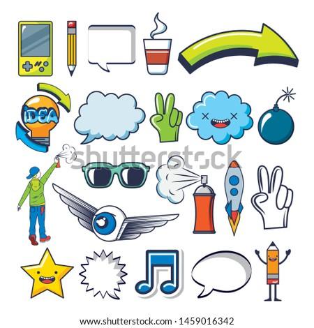bundle of creative photographic ideas set icons vector illustration design #1459016342