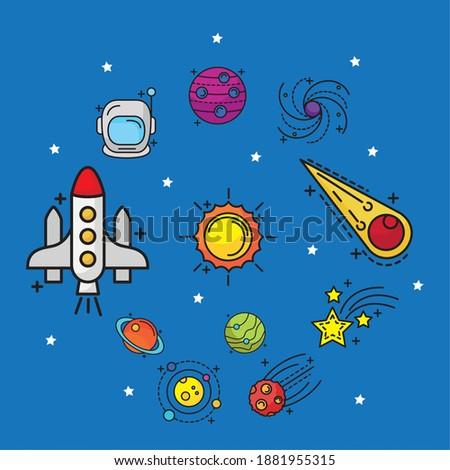 bundle of eleven space set line