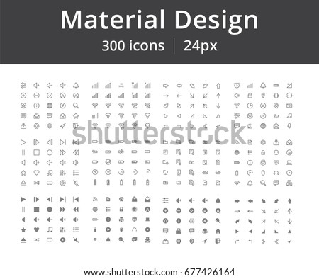 Bundle of 300 icons. Material design. Adaptive for web, user interface, mobile phone, desktops