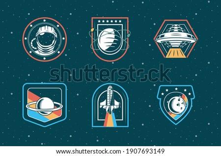 bundle of six space patches set