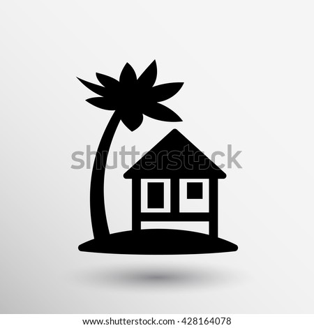 bungalow signs house icon