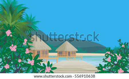 bungalows on the ocean
