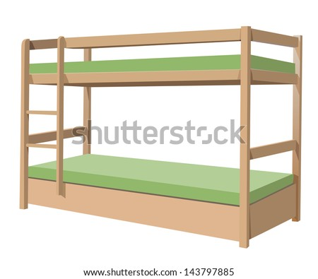 Bunk Bed Stock Vector Illustration 143797885 Shutterstock