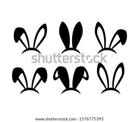 Bunny Ears collection. Bunny ears icons. Isolated. Vector