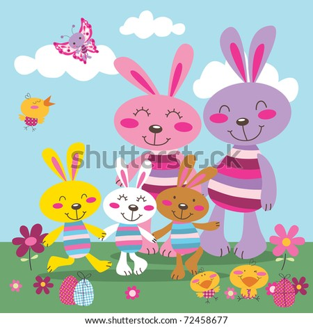 easter bunnies and chicks. pictures of easter bunnies and
