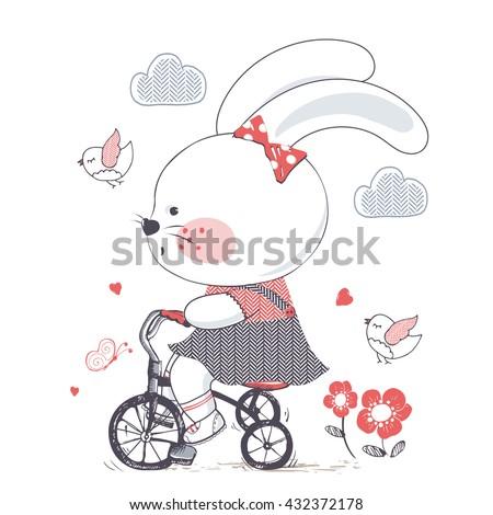 bunny hand drawn vector