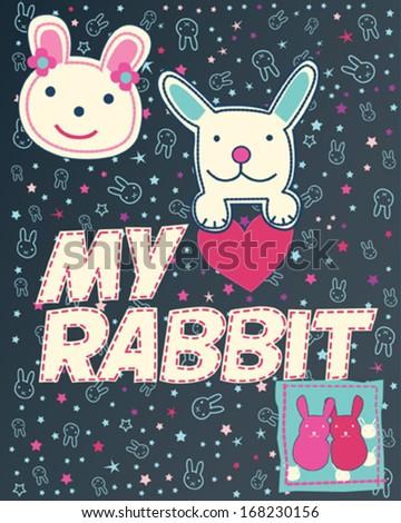 bunny love  happy sweet bunnies