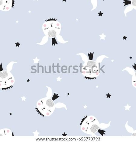 bunny pattern illustration