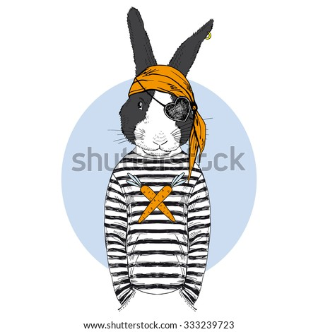 bunny pirate  animal