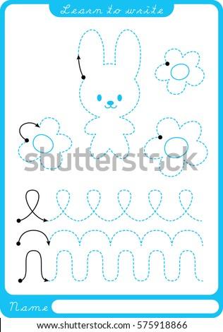 bunny. preschool worksheet for...