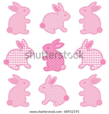 bunny rabbits  nine baby easter