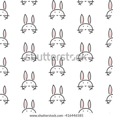 bunny stylized line fun