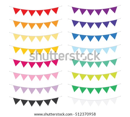 bunting banners in assorted