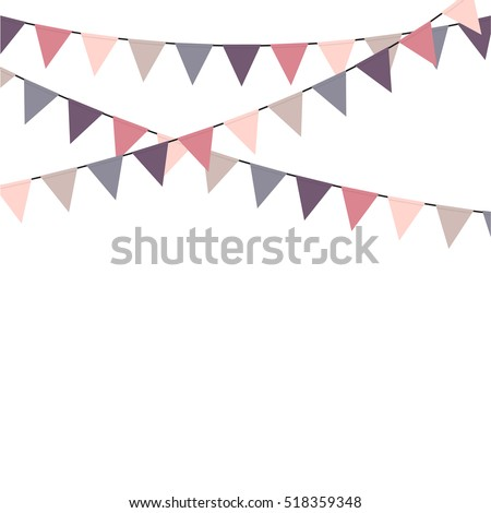 Bunting flags celebration background vector