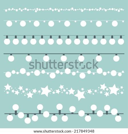 bunting lights and lanterns