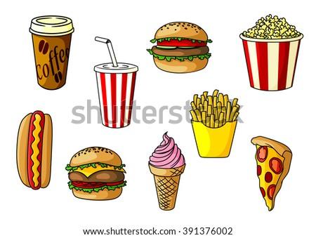 burger and cheeseburger with