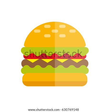 burger flat vector illustration