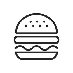 burger hamburger logo icon design