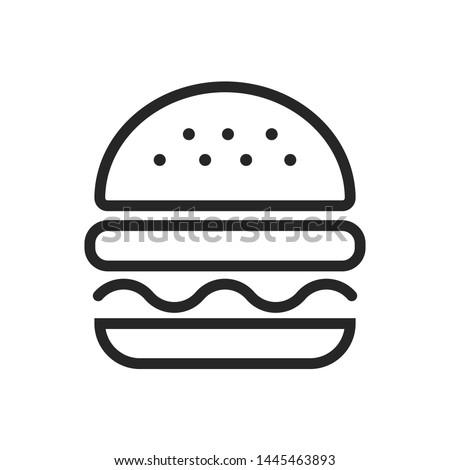 burger hamburger logo icon design Photo stock ©