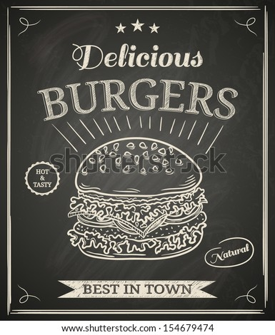 burger house poster on
