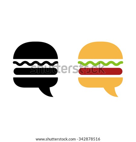 burger icon or logo with