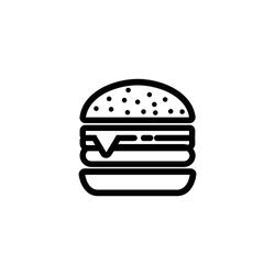 Burger icon vector. Hamburger,cheeseburger symbol.