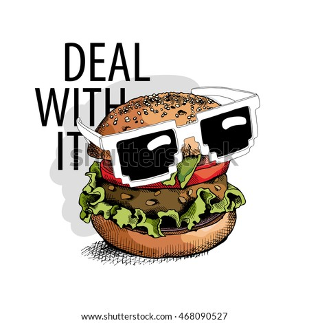 burger in a glasses
