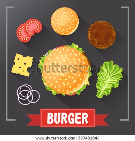 burger ingredients burger