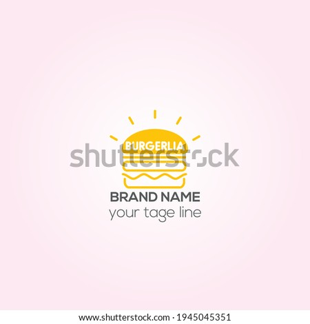 Burger Lia vector logo, Fast food Burger-Lia creative logo, Fast food Café Identity design, restaurant logo, Foto stock ©
