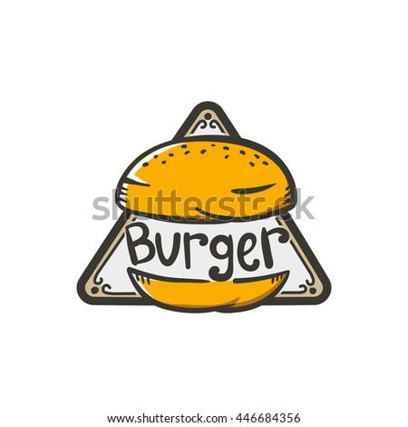 burger logo sticker emblem