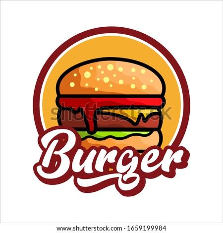 burger logo vector illustration