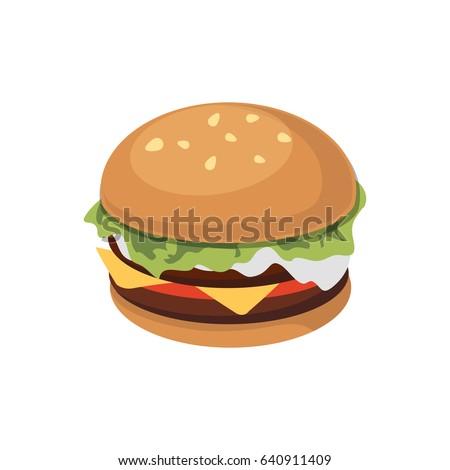 burger sandwich flat icon