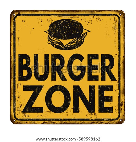 burger zone vintage rusty metal ...