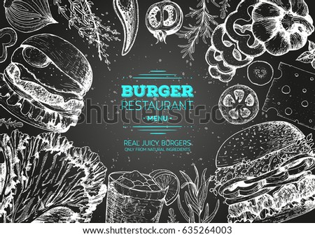 burgers and ingredients for