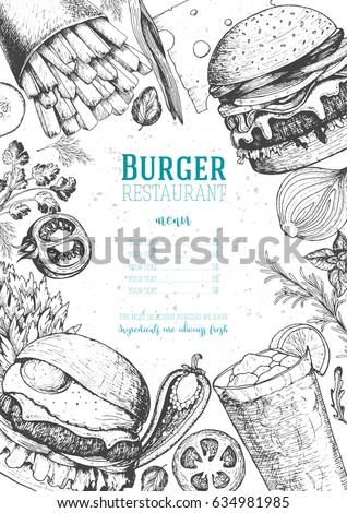 burgers and ingredients vector