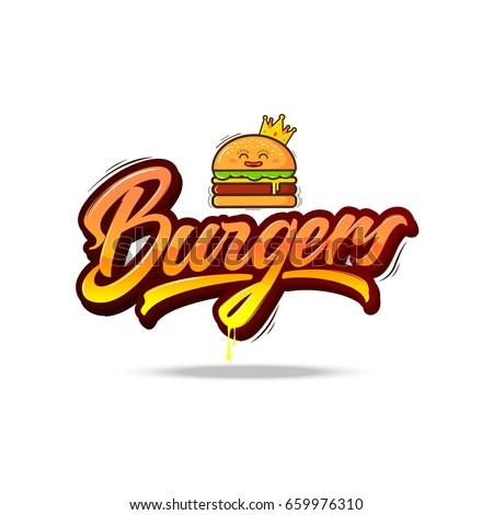 burgers vector lettering logo