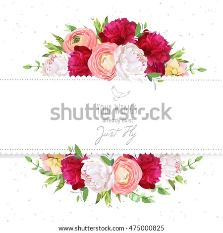 stock-vector-burgundy-red-and-white-peonies-pink-ranunculus-rose-vector-design-frame-natural-card-with-dotted