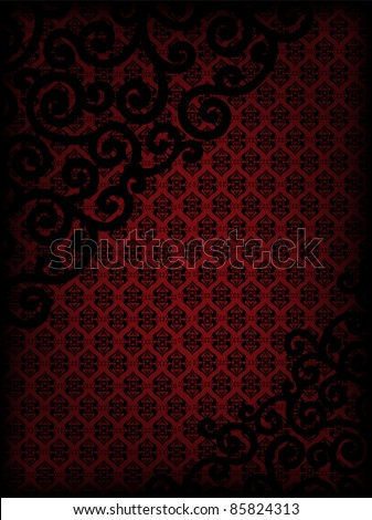 burgundy vertical background with patterns and black