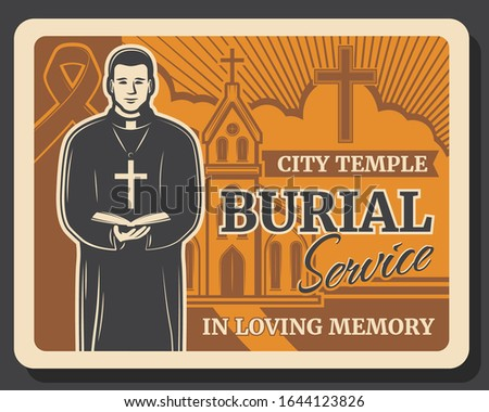 burial service vector design of