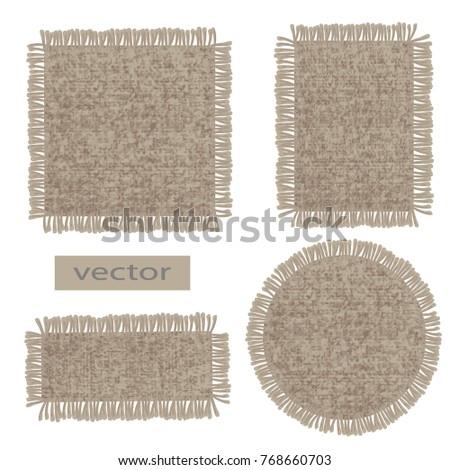 burlap vector organic weave