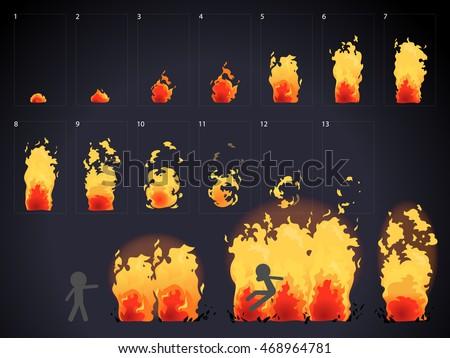 burn effect animation